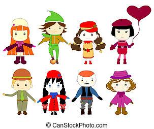 dessins, enfants, dessin animé