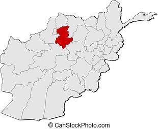 destacado, mapa, pol, afganistán, sar-e