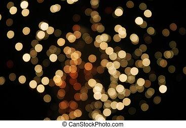 destello, celebración, punto, luz