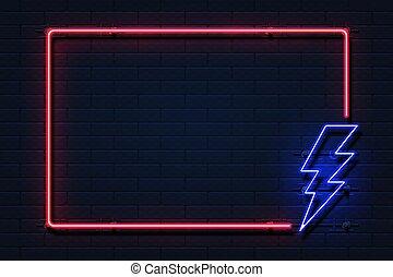 destello, frame., potencia, electricidad, concept., outage, ...