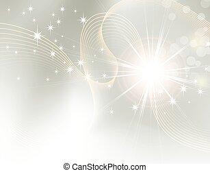 destello, starburst, -, plano de fondo