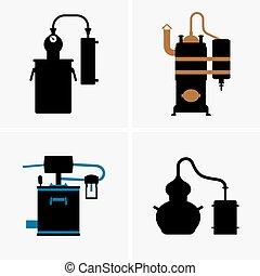 destilación, aparato