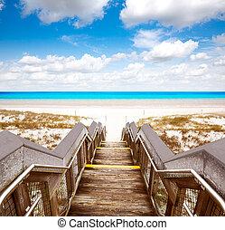 Destin beach in florida ar Henderson State Park USA
