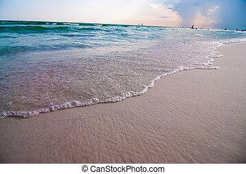 destin florida beach scenes - crystal clear water and beach...