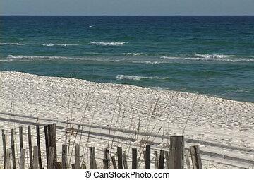 destin, plage, vue
