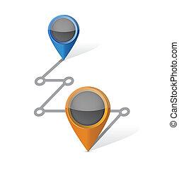 destination connection illustration design