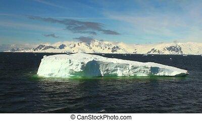 destination, icebergs, -, antarctique, closeup, voyage