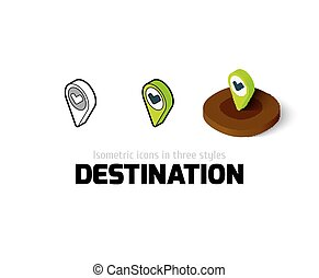 Destination icon in different style
