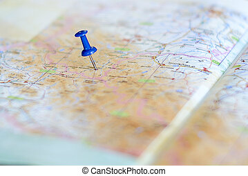 destination on the map