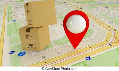 Destination on the map. Search by satellite gps. Many gps...