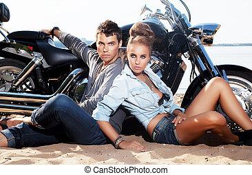 destination., pessoas, viagem, resort., dois, vacations., ...