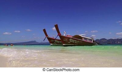 destination, phra, -, poda, ao, ko, île, baie, voyage, nang