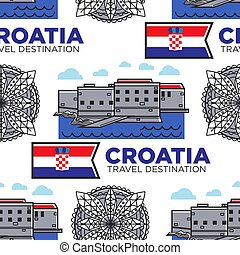 destinazione, bandiera, architettura, modello, viaggiare,...