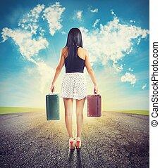 destinazione, viaggiare, senza