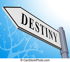 Destiny Sign Meaning Progress And Future 3d Illustration