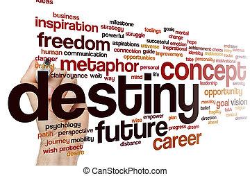 Destiny concept word cloud background