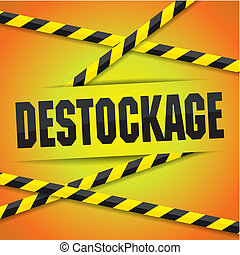 Destock vector illustration