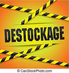 destock, vector, ilustración