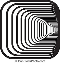 destra, arrotondato, tunnel, angoli, mano, prospettiva, ...