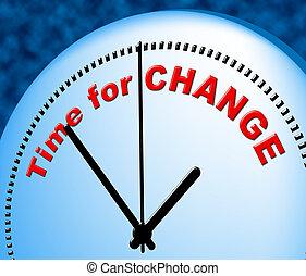destra, tempo, mutevole, ora, cambiamento, mostra