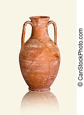 destroyed ancient amphoras - fragments of destroyed ancient...