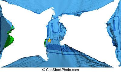 Destroyed Juneau city capital flag - Destroyed Juneau city, ...
