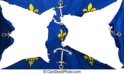 Destroyed Port Louis city flag - Destroyed Port Louis city, ...