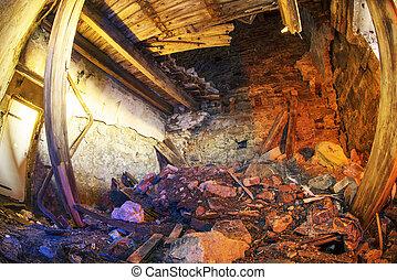 destroyed room