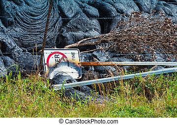 Destroyed sign