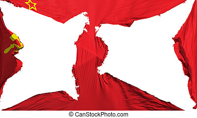 Destroyed Ussr flag