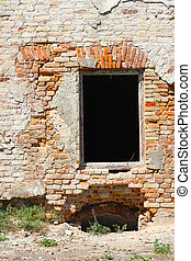 destroyed windows in castle