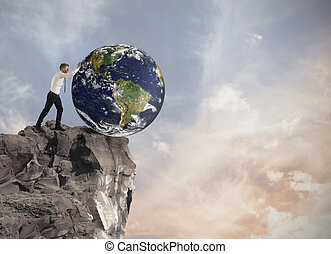 destrucción, de, el mundo
