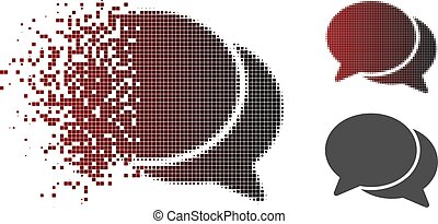 Destructed Pixel Halftone Chat Icon
