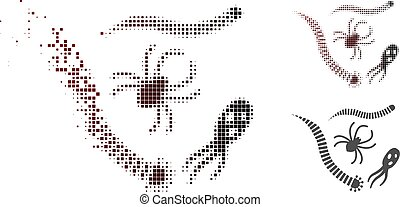 Destructed Pixel Halftone Parasites Icon