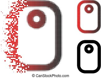 Destructed Pixel Halftone Tag Icon