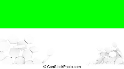 destruction, fond, destruction., blanc, fissure, mur vert