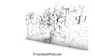Destruction of a wall