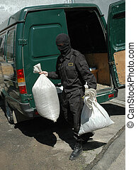 Destruction of drugs - On a photo the moments of destruction...