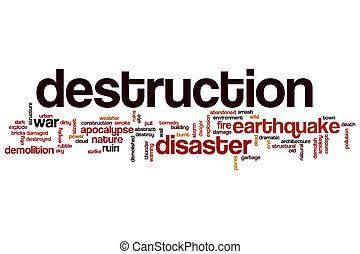 Destruction word cloud