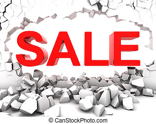 Destructive sale destroy the wall