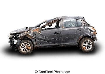destruição carro