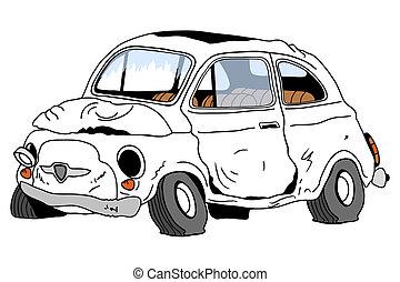 destruido, automóvil