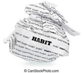 destruir, aspirations?, su, hábito