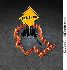desvantagem, demência
