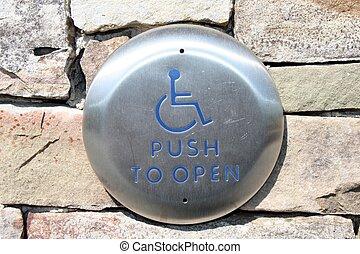 desventaja, empujón,  universal, abierto, botón