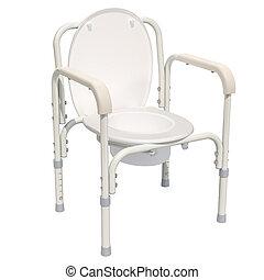 desventaja, interpretación, servicio, 3d, chair., portátil