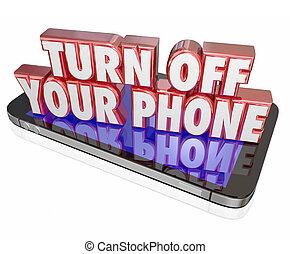 desviarse, su, móvil, teléfono celular, cortés, modales,...