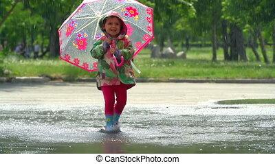 deszcz, taniec