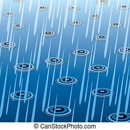 deszcz, wektor, ciężki
