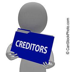 det gengi'r, finansielle, finans, gengivelse, ordne, brochuren, kreditorer, 3